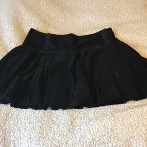 Max studio pleated corduroy mini skirt